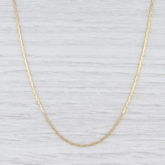 Boston Link Chain Necklace, Yellow Gold Chain, 20""
