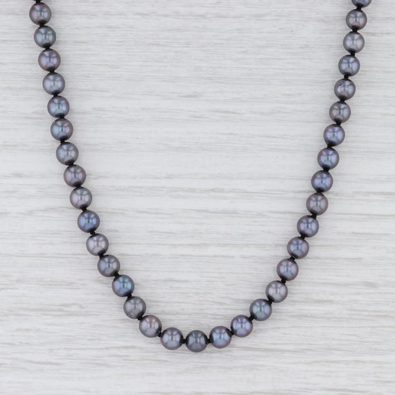 Cultured Pearl Necklace, Black Pearl Necklace, Pea