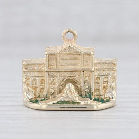 Trevi Fountain Charm, Gold Charm, Rome Charm, Ital