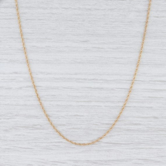 Rope Chain Necklace, Yellow Gold Chain, Gold Chain