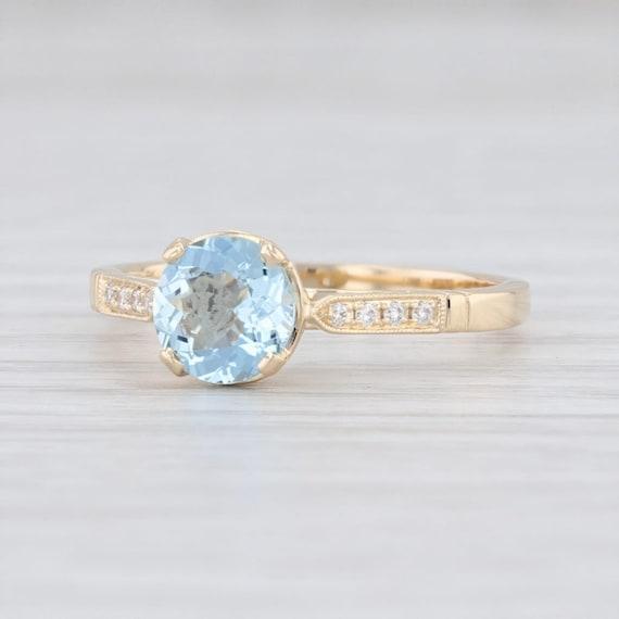 Aquamarine Diamond Ring, Aquamarine Ring, March Bi