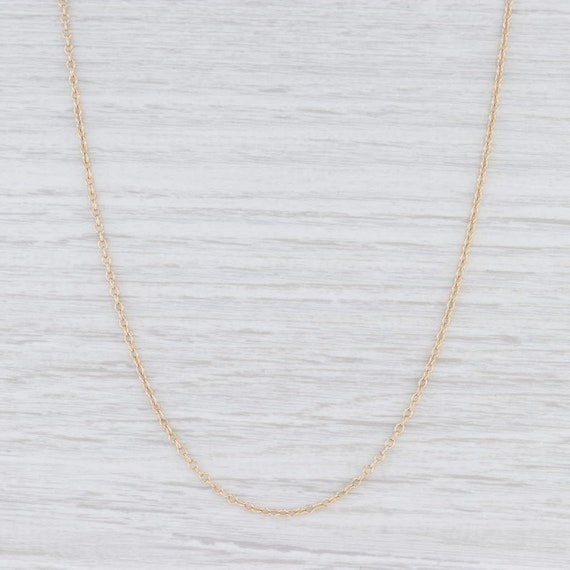 "Cable Chain Necklace, Yellow Gold Chain, 19.5"" Nec"