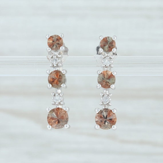 Brown Gemstone Earrings, Andalusite & Diamond Earr