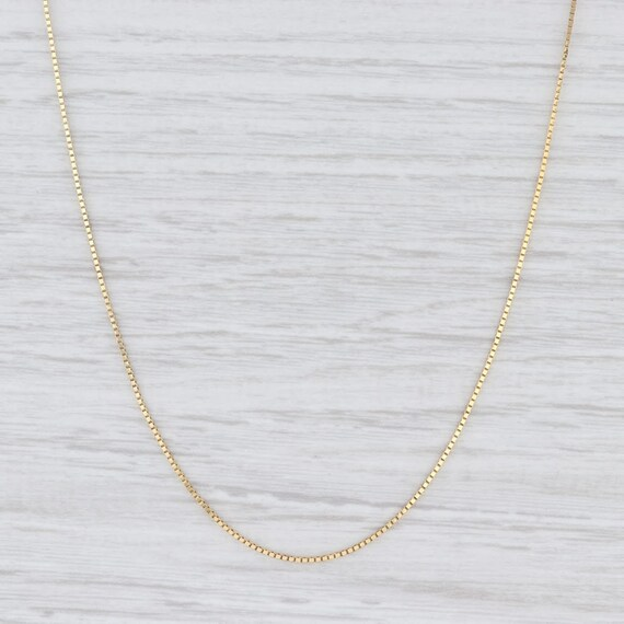 Midas Chain Necklace, Box Chain Necklace, Yellow G
