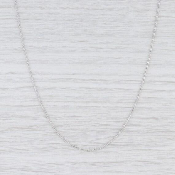 Wheat Chain Necklace, White Gold Chain, Italian Ma