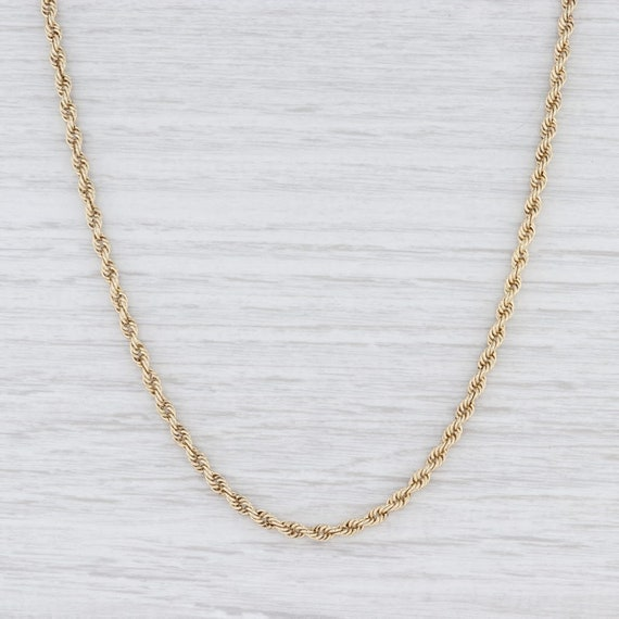"Rope Chain Necklace, Yellow Gold Chain, 26.75"" Cha"