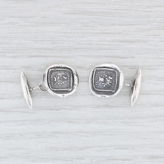 Plum & Posey Cuff Links, 999 Sterling Silver Cuff