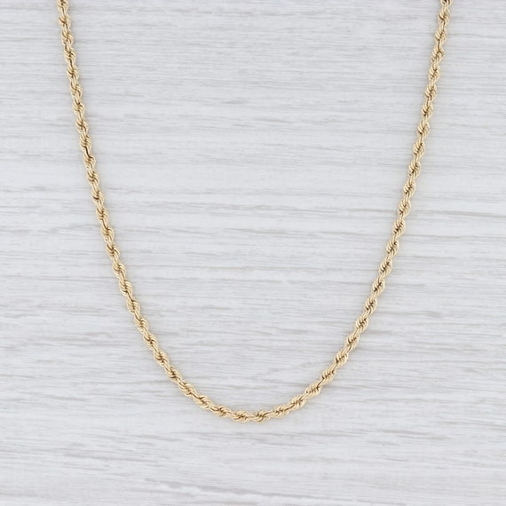 "Rope Chain Necklace, Yellow Gold Necklace, 22"" Cha"