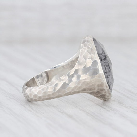 Tourmalated Quartz Ring, Gemstone Statement Ring,… - image 5