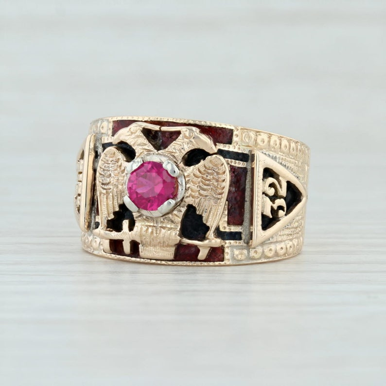 d5ab9a47a2112 Scottish Rite Ring, Masonic Scottish Rite Ring, Masonic Ring, 32nd Degree  Ring, Gold Eagle Ring, Masonic Eagle Ring Masonic Cross Ring