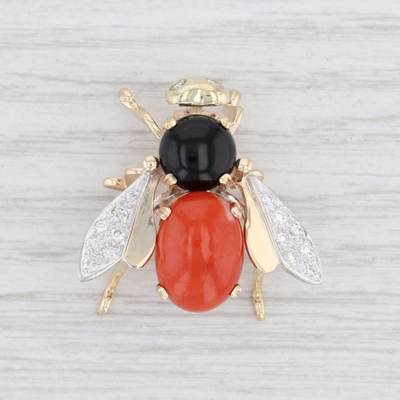 Flying Insect Pin, Insect Brooch, Diamond Brooch,