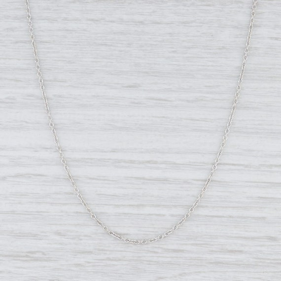 Women's Chain Necklace, Cable Chain Necklace, Whit
