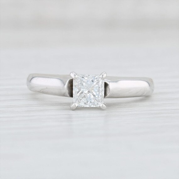 Diamond Engagement Ring, Princess Cut Ring, Solit… - image 2