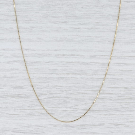 """Box Chain Necklace, Yellow Gold Chain, 20"""" Chain N"""