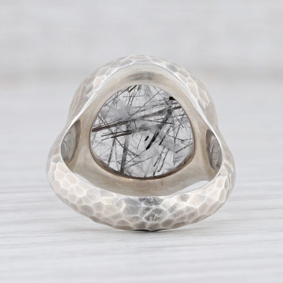 Tourmalated Quartz Ring, Gemstone Statement Ring,… - image 4