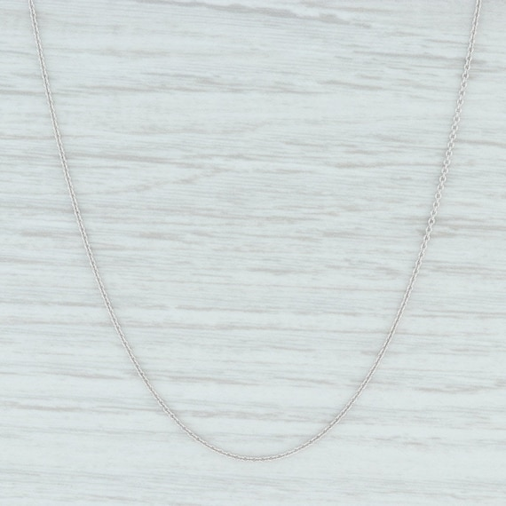 "Cable Chain Necklace, 16"" - 18"" Necklace, White Go"