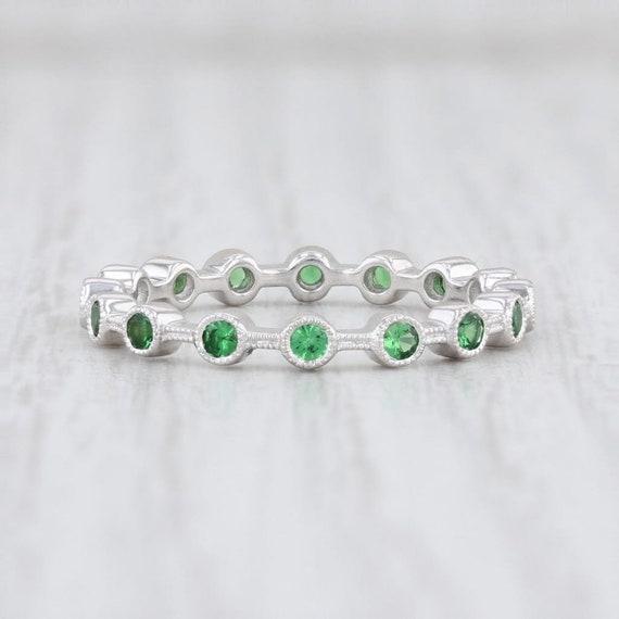 Tsavorite Garnet Ring, Green Garnet Ring, Garnet … - image 4