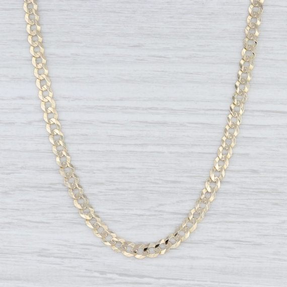 Curb Chain Necklace, Cuban Chain Necklace, Yellow