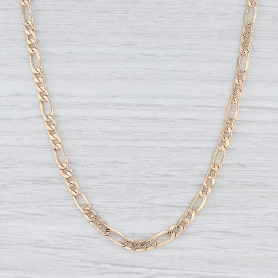 "Figaro Chain Necklace, Gold Chain, 20"" Chain Neckl"