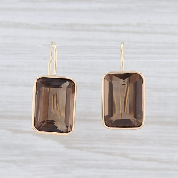 Smoky Quartz Earrings, Drop Earrings, Gold Earring