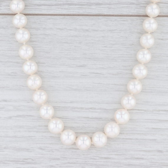 "Pearl Strand Necklace, 17"" Pearl Necklace, Gold Cl"