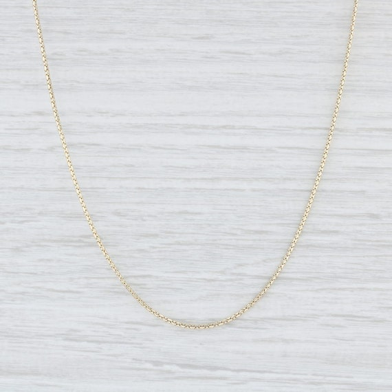 """Snake Chain Necklace, Yellow Gold Necklace, 24"""" Ch"""