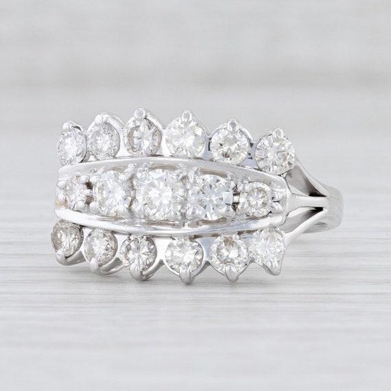 Vintage Diamond Ring, Diamond Cocktail Ring, White