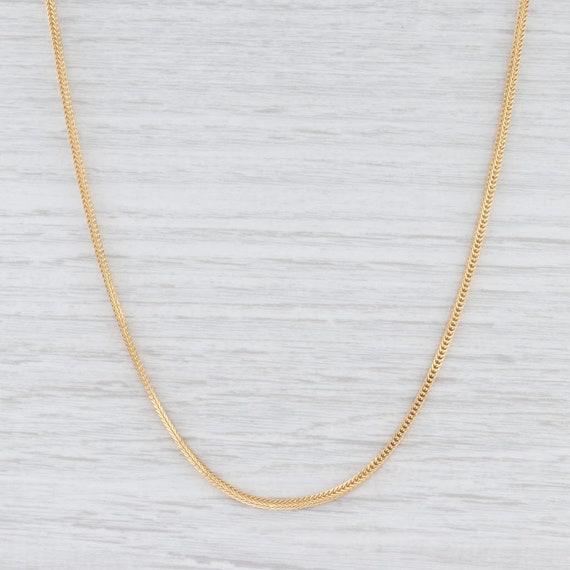 Wheat Chain Necklace, Yellow Gold Chain, Italian M