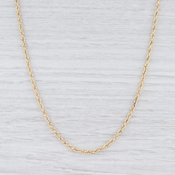 "Rope Chain Necklace, Yellow Gold Necklace, 24.5"" C"