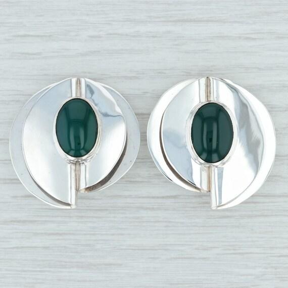 Green Chalcedony Earrings, Green Stone Earrings, S