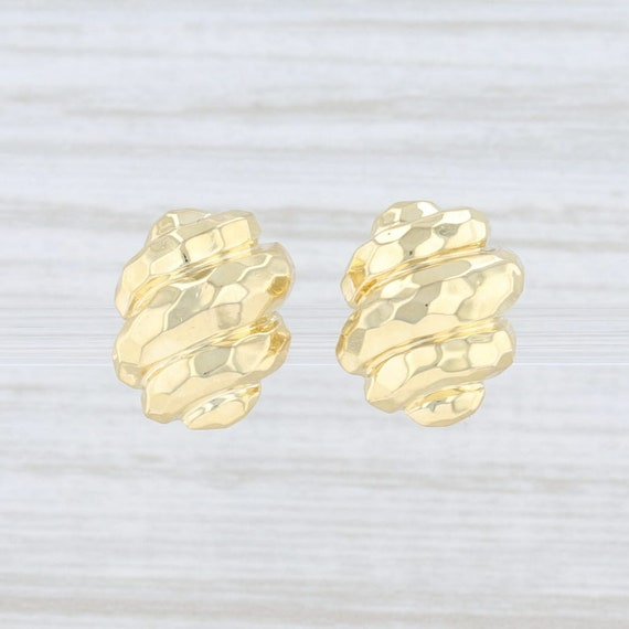 Henry Dunay Earrings, Stud Earrings, Yellow Gold E