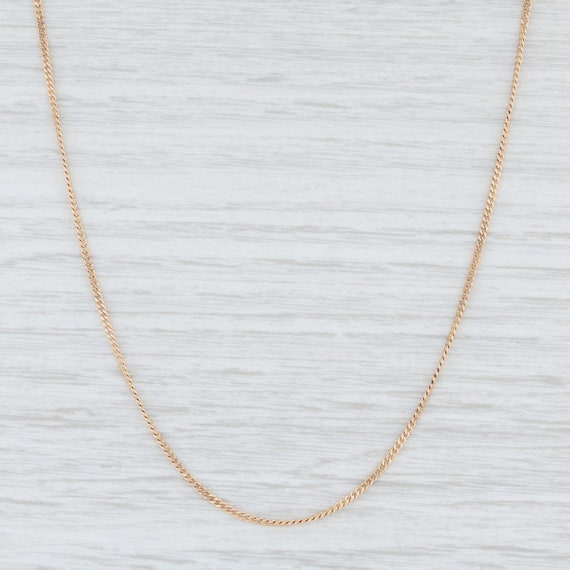 """Curb Chain Necklace, Yellow Gold Chain, 18"""" Chain"""