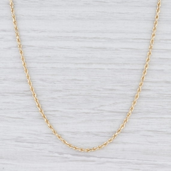 "Rope Chain Necklace, Yellow Gold Chain, 24.5"" Chai"