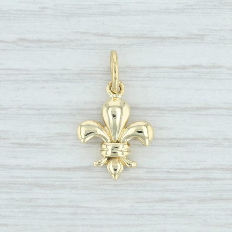 Fleur De Lis Pendant Gold French Charm Gold Fleur De Lis Fleur De Lis Charm