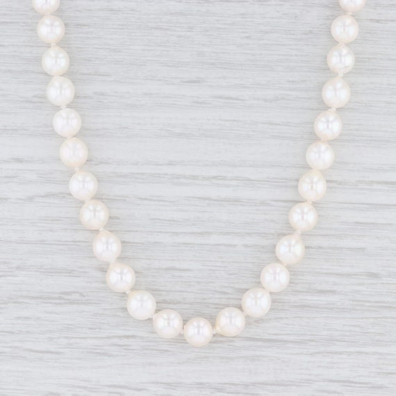 Graduated Pearl Necklace, Pearl Strand Necklace, 1