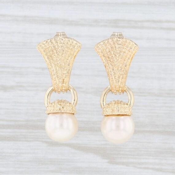Cultured Pearl Earrings, Saltwater Pearl Earrings,