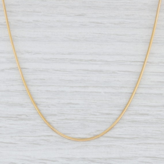 Snake Chain Necklace, Yellow Gold Necklace, 18.25""
