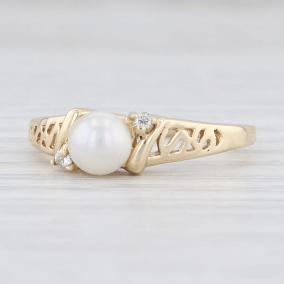 Cultured Pearl Ring, Saltwater Pearl Ring, Pearl &