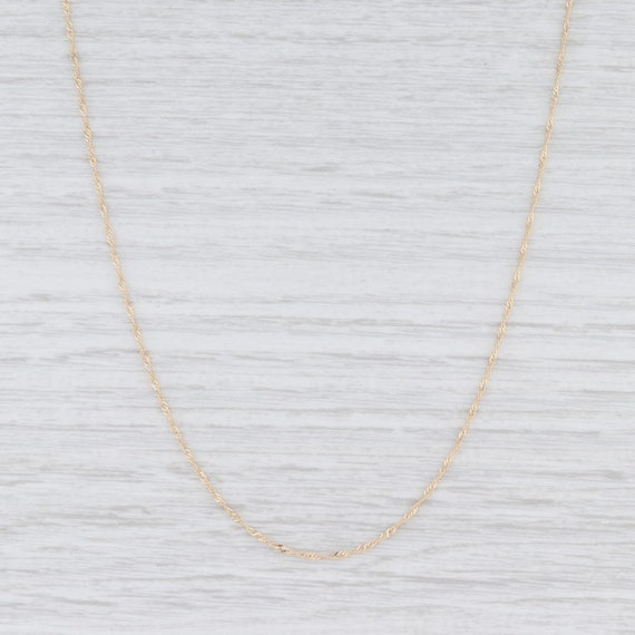 Singapore Chain Necklace, Yellow Gold Necklace, 18