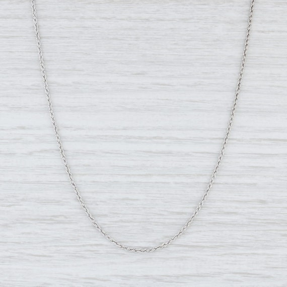 Rope Chain Necklace, White Gold Chain Necklace, 31