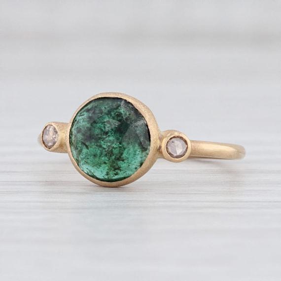 Emerald Diamond Ring, Emerald Ring, May Birthstone