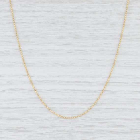 """Bead Chain Necklace, Yellow Gold Chain, 16"""" Chain"""