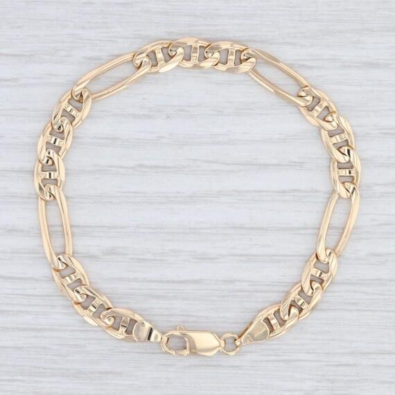 Anchor Chain Bracelet, Mariner Chain Bracelet, Yel