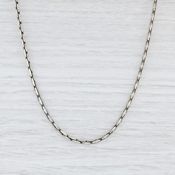 Boston Link Chain Necklace, Sterling Silver Neckla