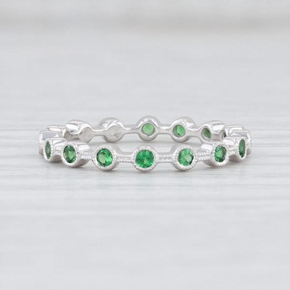 Tsavorite Garnet Ring, Green Garnet Ring, Garnet S