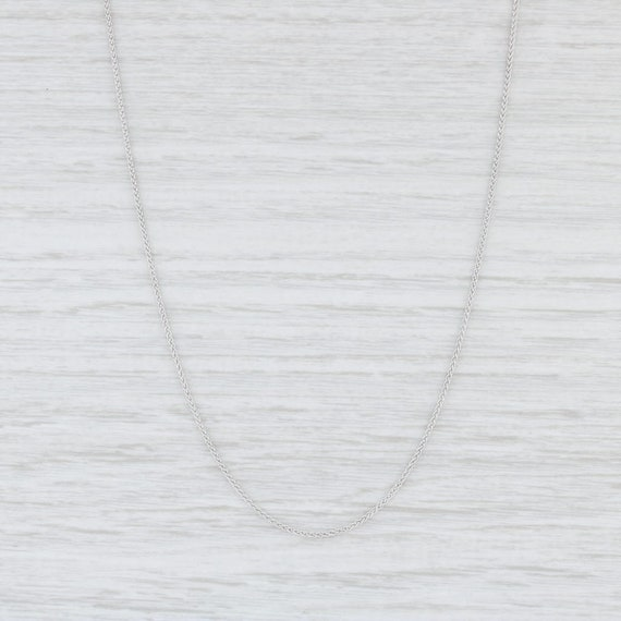 Spiga Chain Necklace, Wheat Chain Necklace, White