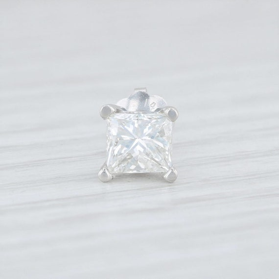 Single Diamond Stud, Single Diamond Earring, Whit… - image 2