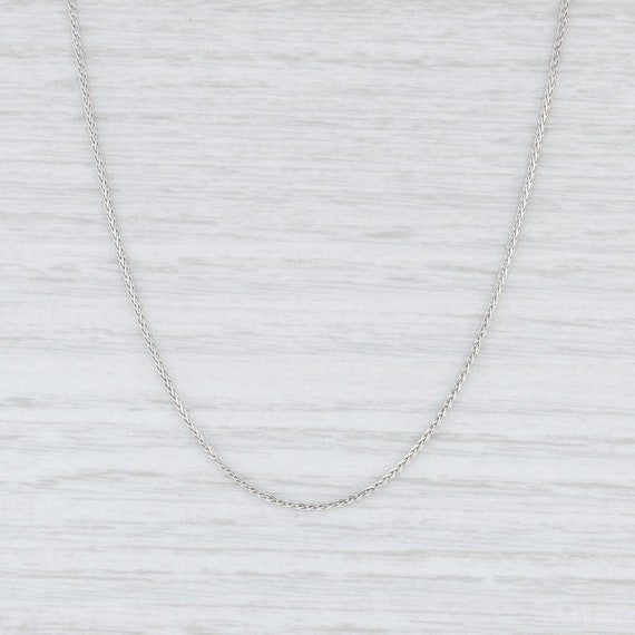 "Wheat Chain Necklace, White Gold Necklace, 14"" Nec"