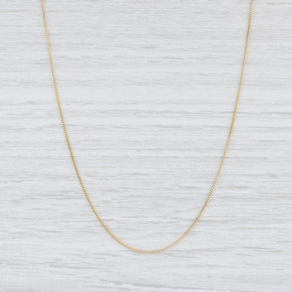 Curb Chain Necklace, 8k Yellow Gold Necklace, 20.5