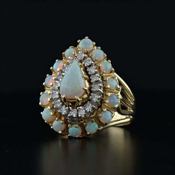 Opal Cocktail Ring, Opal Ring, Gemstone Cocktail R